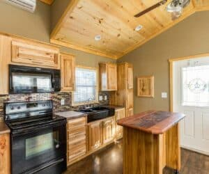 Furnished wooden kitchen of house The Ranch made by Pratt