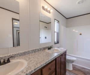 Bathroom from house model Jordan made by Pratt Homes