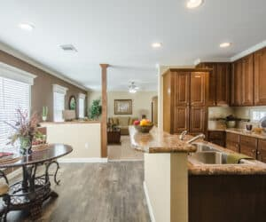 Spacious kitchen with dining room made by Pratt Homes