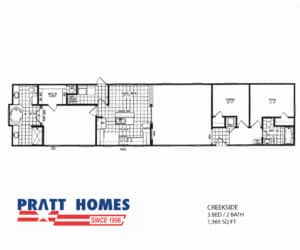 Plan for home model Creekside from Pratt Homes