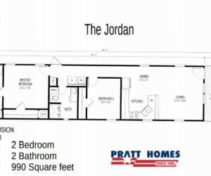 Floor Plan from Pratt Homes model The Jordan