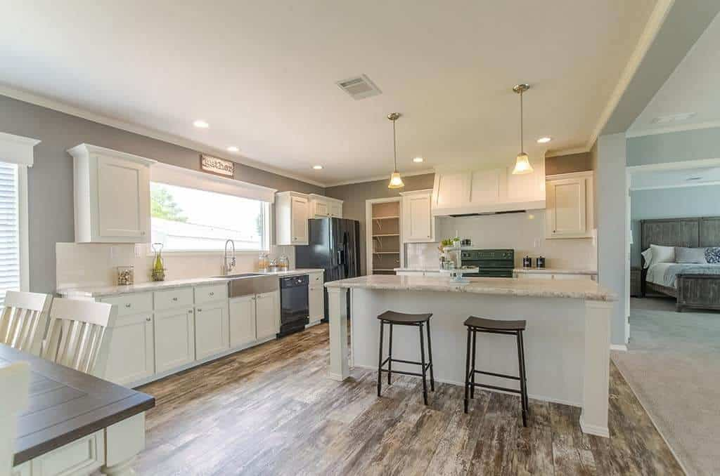 Kitchen of a Pratt Homes model Reyenga