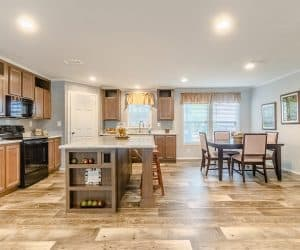 Spacious Dining room with kitchen from home model Tiffany