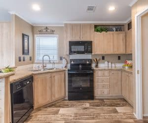 Wooden kitchen from Pratt Homes, model Brittany