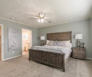 Master Bedroom in home model Reyenga