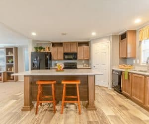 Spacious wooden kitchen from home model Tiffany