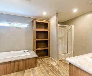 Master bathroom with a large bath tub from home model Tiffany