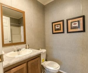 Furnished bathroom from home model Tiffany