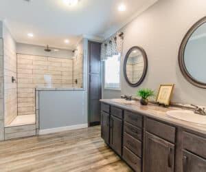Modular home master bathroom