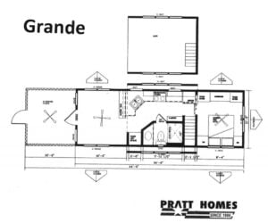 Floor Plan of Modular Home Grande