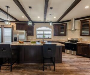 Kitchen in the house model Eastwood made by Pratt Homes from Tyler