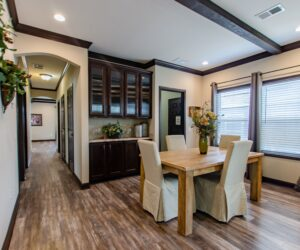 Dining room in the house model Eastwood made by Pratt Homes from Tyler