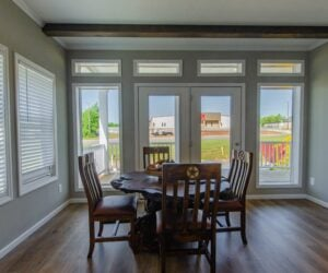 Dining room in the house model Lakeside made by Pratt Homes from Tyler