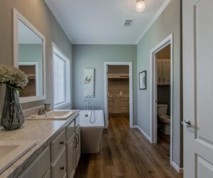 Master bath in the house model Lakeside made by Pratt Homes from Tyler