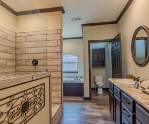 Master bath in the house model Eastwood made by Pratt Homes from Tyler