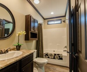 Bath in the house model Eastwood made by Pratt Homes from Tyler