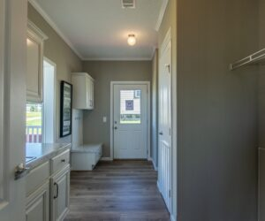 Hallway in the house model Lakeside made by Pratt Homes from Tyler
