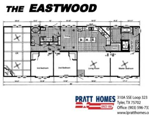 Floorplan of the house model Eastwood made by Pratt Homes from Tyler