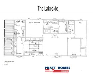 Floorplan of the house model Lakeside made by Pratt Homes from Tyler