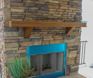 Fireplace in the house model Carlton made by Pratt from Tyler