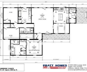 Floor plan of the house model Carlton made by Pratt from Tyler