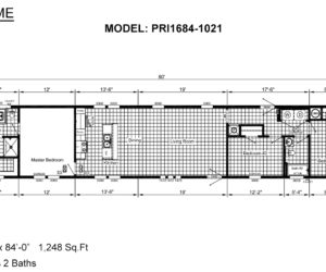 Floor plan of the house model 1021 made by Pratt from Tyler