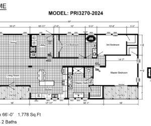Floor plan of the house model Mattie made by Pratt from Tyler