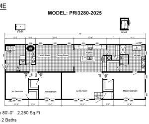 Floor plan from house model Melissa from Pratt homes in Tyler