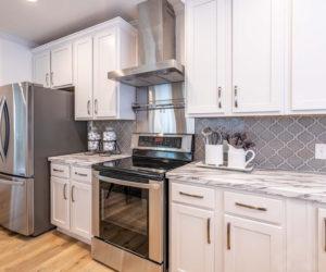 Kitchen appliances in the house model Mattie made by Pratt from Tyler