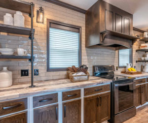Equipped kitchen in the house model Melissa from Pratt homes in Tyler