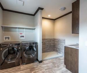 Laundry room from house model Melissa from Pratt homes in Tyler