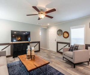 Living room in the house model 1502 from Pratt homes in Tyler Texas