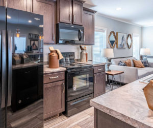Kitchen appliances in the house model 1502 from Pratt homes from Tyler Texas