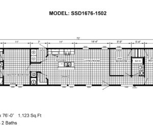Floor plan from house model 1502 from Pratt homes in Tyler