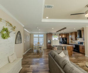 entryway at the modular home Reyenga made by Pratt Homes