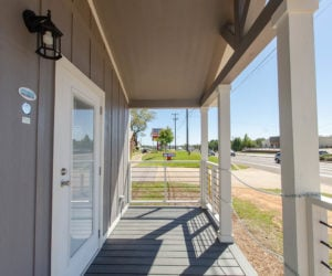 porch in the modular home Tumbleweed made by Pratt Homes