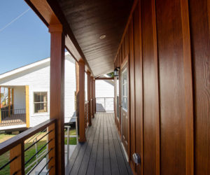 front porch at the incredible tiny home Rustic