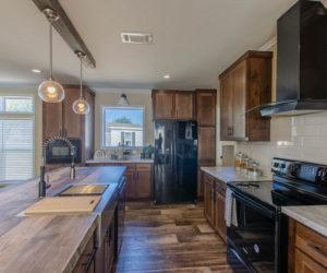 kitchen in the modular home Reyenga made by Pratt Homes