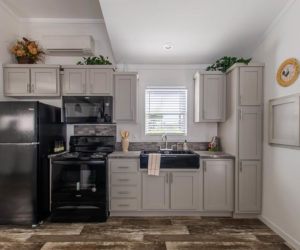 kitchen in the modular home Tumbleweed made by Pratt Homes