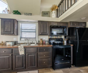 affordable tiny home Brown Kitchen