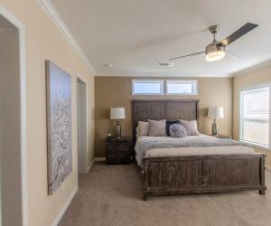 master bedroom in the modular home Reyenga made by Pratt Homes