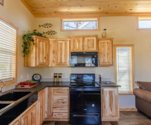 kitchen details in the incredible tiny home Rustic