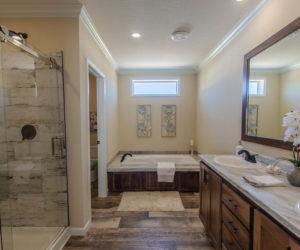 master bath details in the modular home Reyenga made by Pratt Homes
