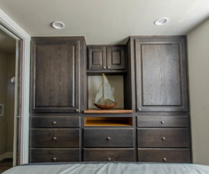 affordable tiny home Brown bedroom