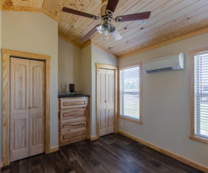 bedroom in the incredible tiny home Rustic
