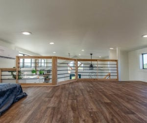 loft of the affordable tiny home White