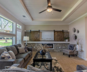 living room at the bailey house made by pratt homes tyler tx