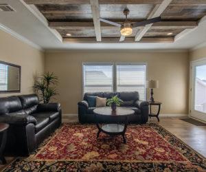living room in the house model Daisy Mae made by pratt homes tyler texas