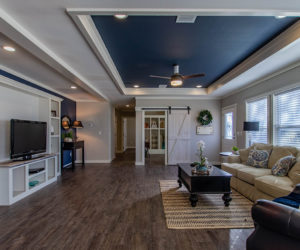 living room in the house model big spur made by pratt homes tyler texas
