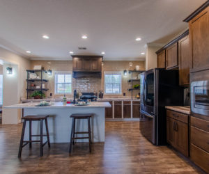 kitchen island at the bailey house made by pratt homes tyler tx